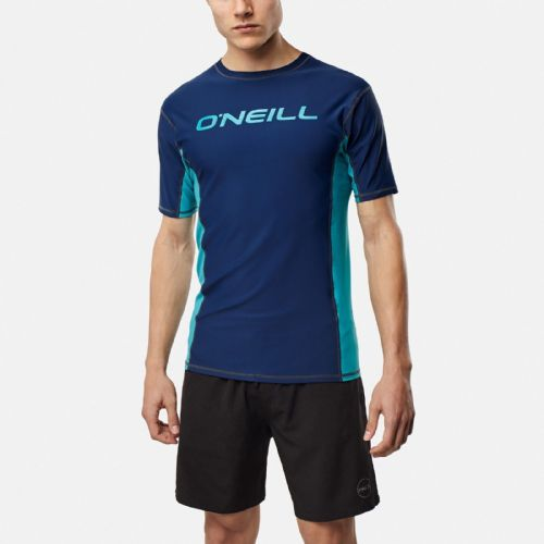 O'NEILL MENS RASH VEST.LAKE UPF50+ SUN PROTECTION BLUE T SHIRT TOP 8S 612 8026